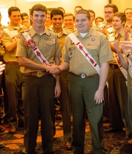 Hunter Jones (left), national chief-elect of the Order of the Arrow, is from Wa-Hi-Nasa Lodge out of Nashville, TN. As the 2016 national chief, he will oversee the planning and execution of NEXT: A New Century and many other exciting innovations for 2016. Congratulations, Hunter!
