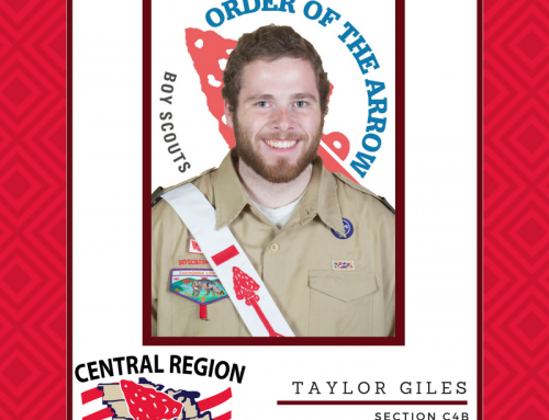 Taylor Giles Elected 2017 Central Region Chief of the Order of the Arrow